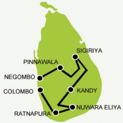 Adam's peak tour map