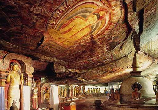 Golden temple of Dambulla - Sri Lanka