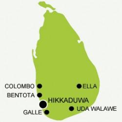 Map of Hikkaduwa trip