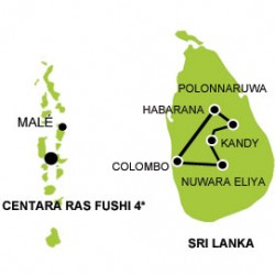honeymoon sri lanka maldives tour map