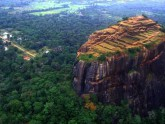 Lion Rock Sigiriya view from the sky
