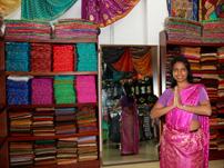 Sari-fitting session
