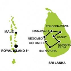 Sri Lanka - Maldives in style tour map