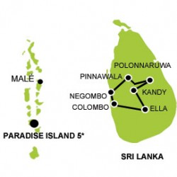 Sri Lanka - Maldives with your family tour map