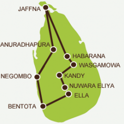 Map of Jaffna Trip
