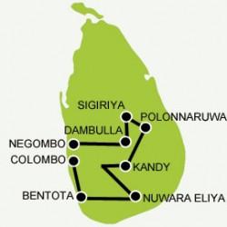 Sri lanka discovery beaches tour map